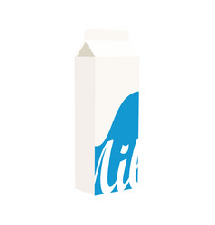 milk box isolated on white background milk package vector image