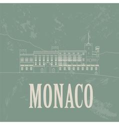 Monaco landmarks Retro styled image vector