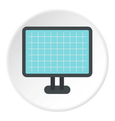 Monitor icon flat style vector