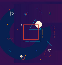 Motion graphics design element geometric vector