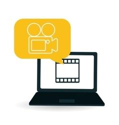 Movie design vector