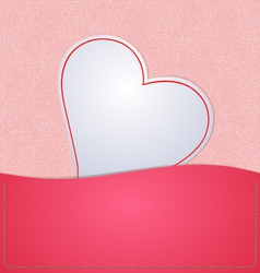 Paper Heart background Pink vector image