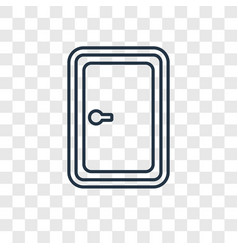 Penalty concept linear icon isolated on vector
