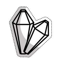 Precious rocks isolated icon vector