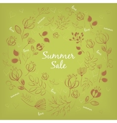 Red floral ring Summer sale vector