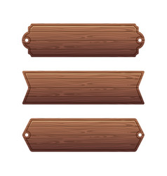 set of various wooden banners vector image