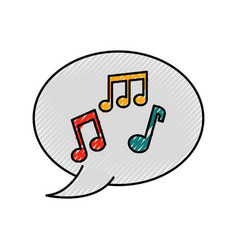 speaker bubble note music melody composition vector image