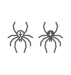 spider line and glyph icon animal vector image