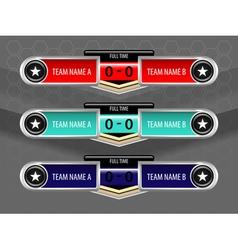 Sport icons scoreboard vector