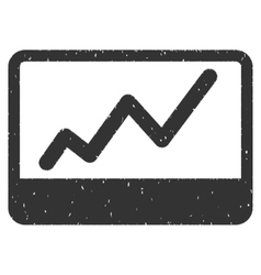 Stock Market Icon Rubber Stamp vector