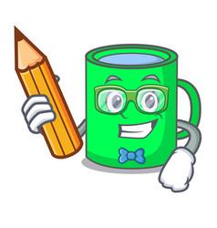 student mug character cartoon style vector image