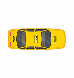 Taxi car top view vector