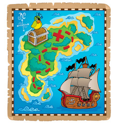 Treasure map topic image 5 vector