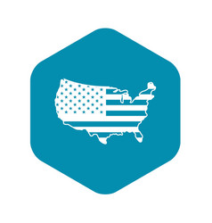 usa map icon simple style vector image