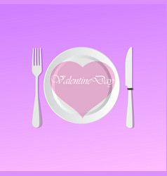 valentine day menu party vector image