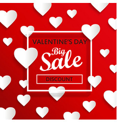valentines day big sale background vector image