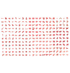 very big collection of flags of the austria vector image