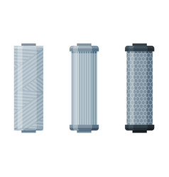 water filters set special modern technologies vector image