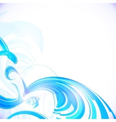 Abstract shining blue background vector image