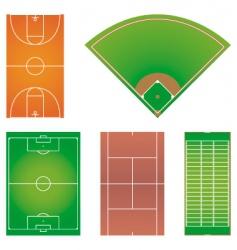 five popular sport field layouts vector image vector image