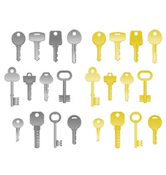 house keys vector image vector image