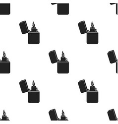 lighter icon in black style isolated on white vector image