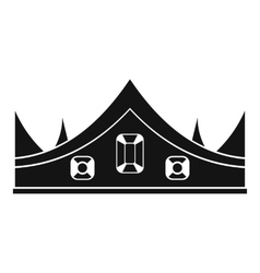Royal crown icon simple style vector image vector image
