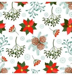 seamless Christmas patterns set vector image