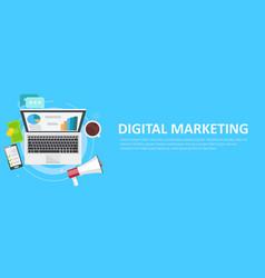digital marketing banner vector image