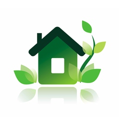 eco home icon isolated symbol vector image vector image