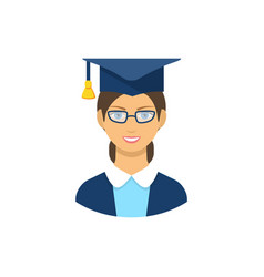graduate student icon pictogram flat vector image vector image