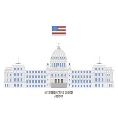 mississippi state capitol vector image