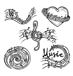 Music Abstract Set vector image