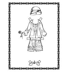 vintage dress vector image