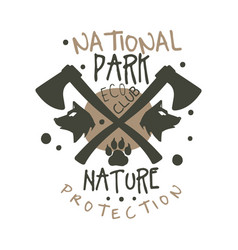 national park nature protection design template vector image vector image