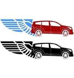 Passenger car-2 vector image vector image