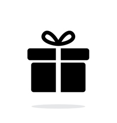 Big gift box icons on white background vector image vector image