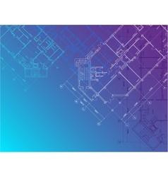 Blue architectural background horisontal vector image vector image