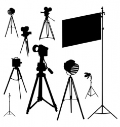 cinematographic set traced vector image vector image