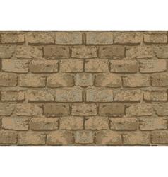 old brick wall pattern vector image vector image