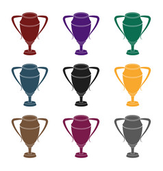silver cupaward the winner of the competition for vector image vector image