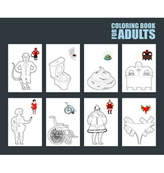 Adult coloring book humor drawing major coloring vector image