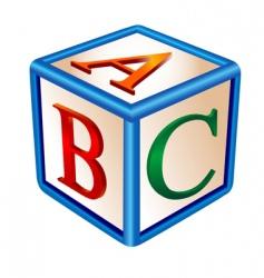 alphabetical game vector image