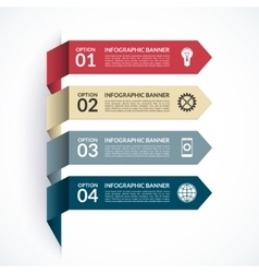 Arrow infographic options banner vector image