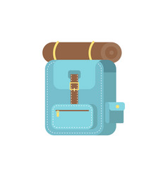 bag pack icon flat design camping equipment vector image