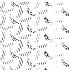 banana pop art seamless pattern black and vector image