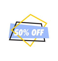 banner sale graphic design template vector image