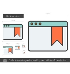 Bookmark line icon vector