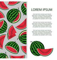 Bright watermelons banner template vector