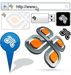 Business 3D pattern logo design vector
